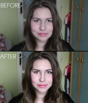 Face photoshop [before and after] by Stella-cat