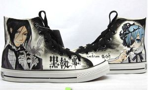 Anime-Shoes-Black-Butler-Hand-Painted-Anime  by ajdv