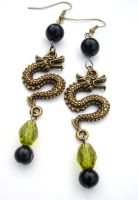 Dragon Bead Earrings by AbsoluteJewelry