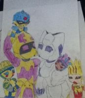 royal medabot family colored by SoundwaveGirl
