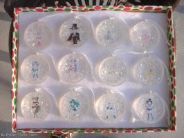 Sailor Moon Xmas Ornaments by IttyFox6