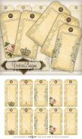 Printable Vintage Hang Tags by VectoriaDesigns