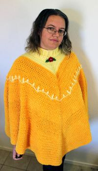 Belle-Inspired Crocheted Chenille Poncho by TheSeaKnight