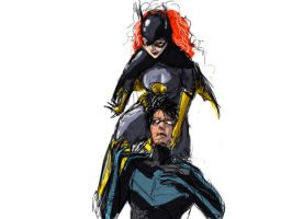 Batgirlxnightwing 2 by MethylKy06