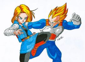 Vegeta Vs A-18 by MikeES