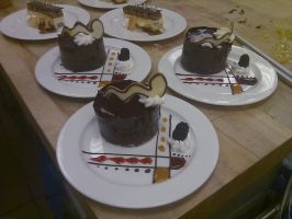 Plated Desserts by AlyceThePirate