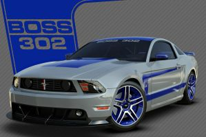 SilverBlue 302 BOSS Concept by nascar3d