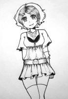 Violet (pen) by minele