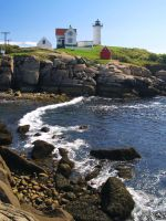 York Beach Nubble by davincipoppalag