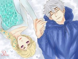 30 DAYS WITH JELSA - DAY 5 Sleep In The Frozen Air by devilCiel-Chan