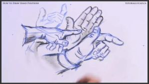 Learn how to draw hand positions 016 by drawingcourse