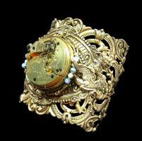 Victorian Steampunk Year of the Dragon Cuff by byrdldy