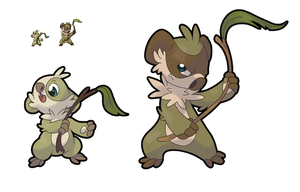 Fakemon Ninoala and Koaninja by Feyrah