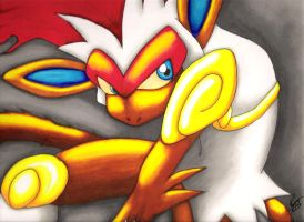 Infernape - For my brother... by Branzu
