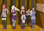 Naruto Girls Captured by Bowen12a