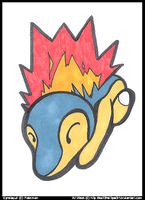 Cyndaquil by CritterKat