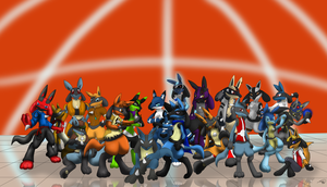 My Lucario Montage by Threehorn