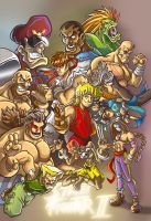 Street Fighter -coloured by scoundreldaze