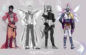 Adoptable set- Auction OPEN. 2/4 by Danny-chama