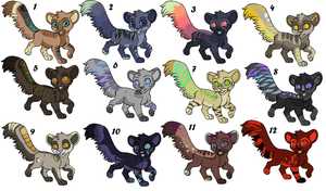 Jahpan's adoptables (Open!) by Sacredfire200