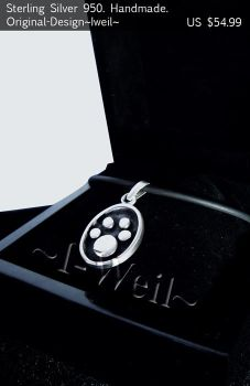 Sterling Silver Paw For Sale by Ryoku3399