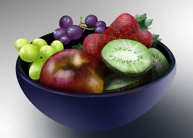 Bowl of Fruit by mindschnapps