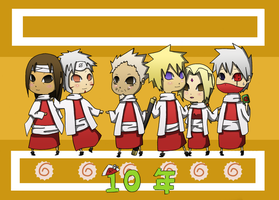 10 Years of Hokage Awesomeness by blindleap