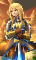 Agrias Oaks :The holy sword by Skello-on-ice