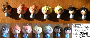 Ouran HSHC Charms :3 by Megankaro