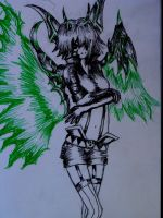 Green Demonic Girl by Ryukky