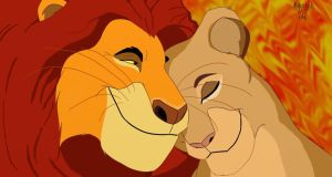 Mufasa and Sarabi by MonsterMJFan