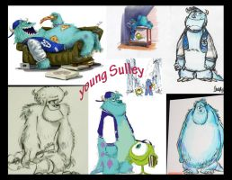 young Sulley by Cookie-Lovey