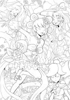 Waltz Of The Flowers lineart by Twinkiesama