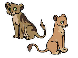 CLOSED-Lions cubs adoptables by Zari-Adoptables