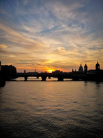sunset over london I by mareika