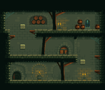 Pixel Art - Platformer Cave Level 01 by Grainfall
