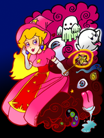 Peach In Horror Land by Buddha-Cat