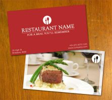 Restaurant Business Card by danbradster