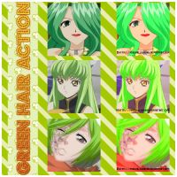 Anime Green Hair Action by MissxAllSunday