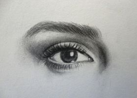 eye of emma watson by Zombieyue