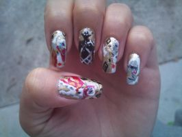 Demon Lord Ghirahim the fabulous nail art by amanda04