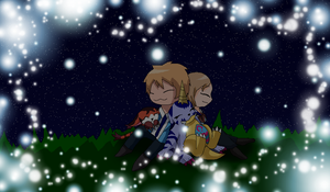 Sleeping under the stars by HeroHeart001