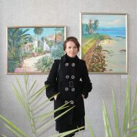 At the exhibition of my friend by Maiyoko