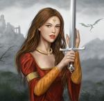 Girl and Sword by dashinvaine