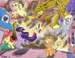 The Destruction of Ponyville by kaijukid