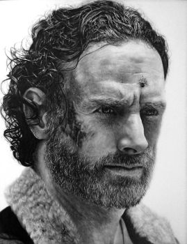 Rick Grimes Drawing - The Walking Dead by Names76