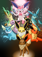 Eeveelutions by JenniferJK