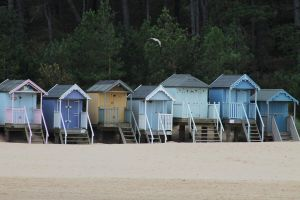 Pastel beach huts by Based-on-love