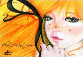 Halloween Cutie - ACEO by Katerina-Art