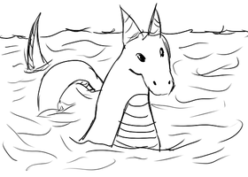 Water Dragon From a Game :D by Aroselia